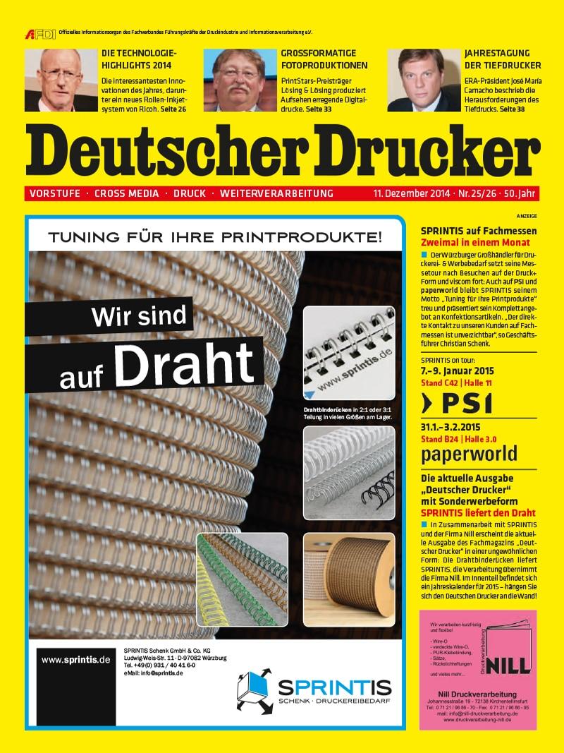 Produkt: Deutscher Drucker 25-26/2014 Digital