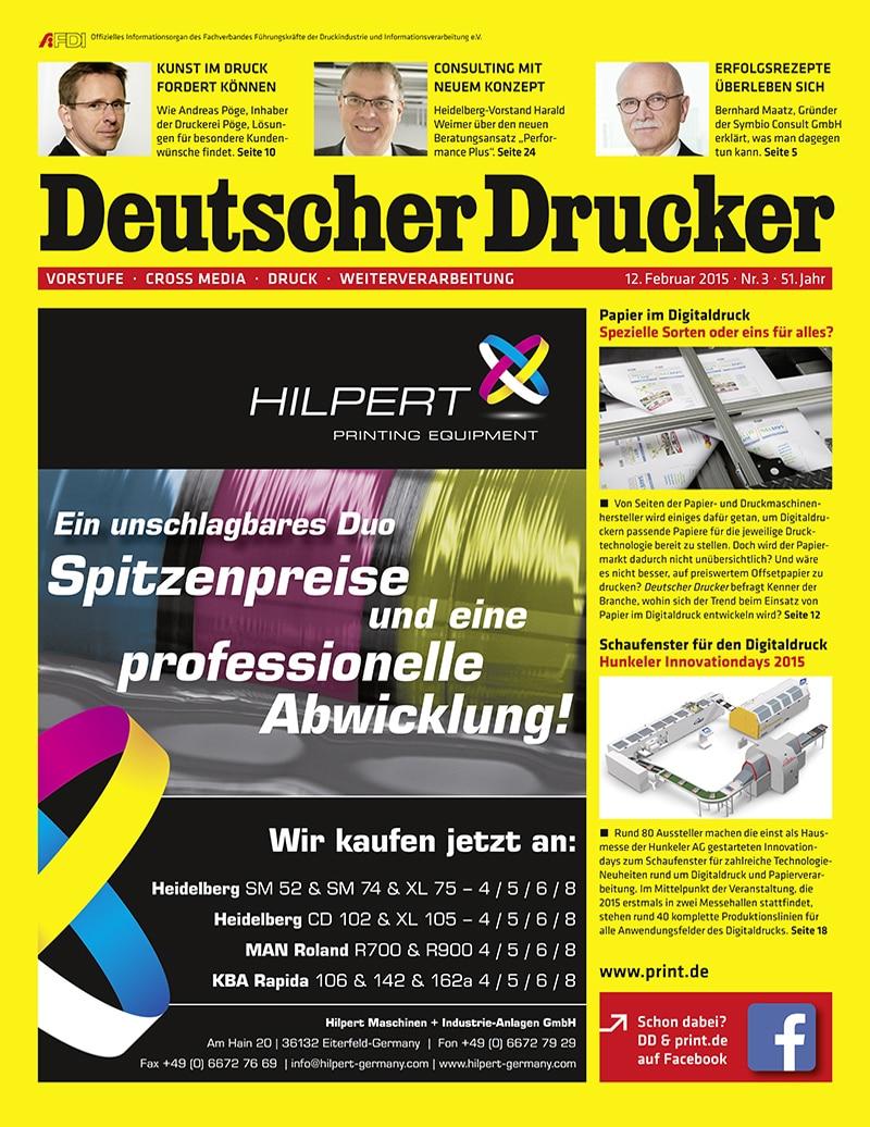 Produkt: Deutscher Drucker 3/2015 Digital