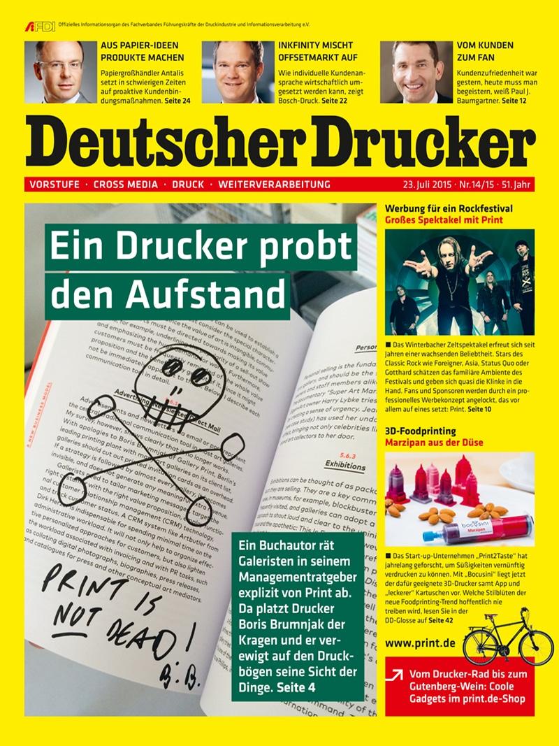 Produkt: Deutscher Drucker 14-15/2015 Digital