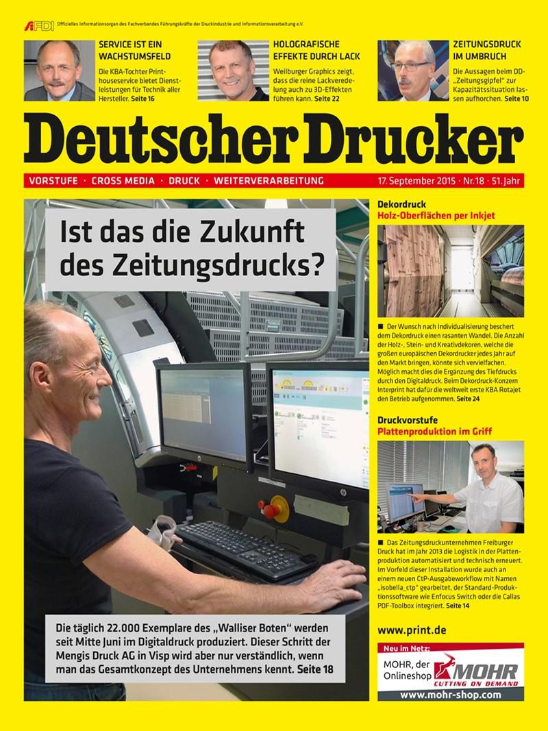 Produkt: Deutscher Drucker 18/2015 Digital