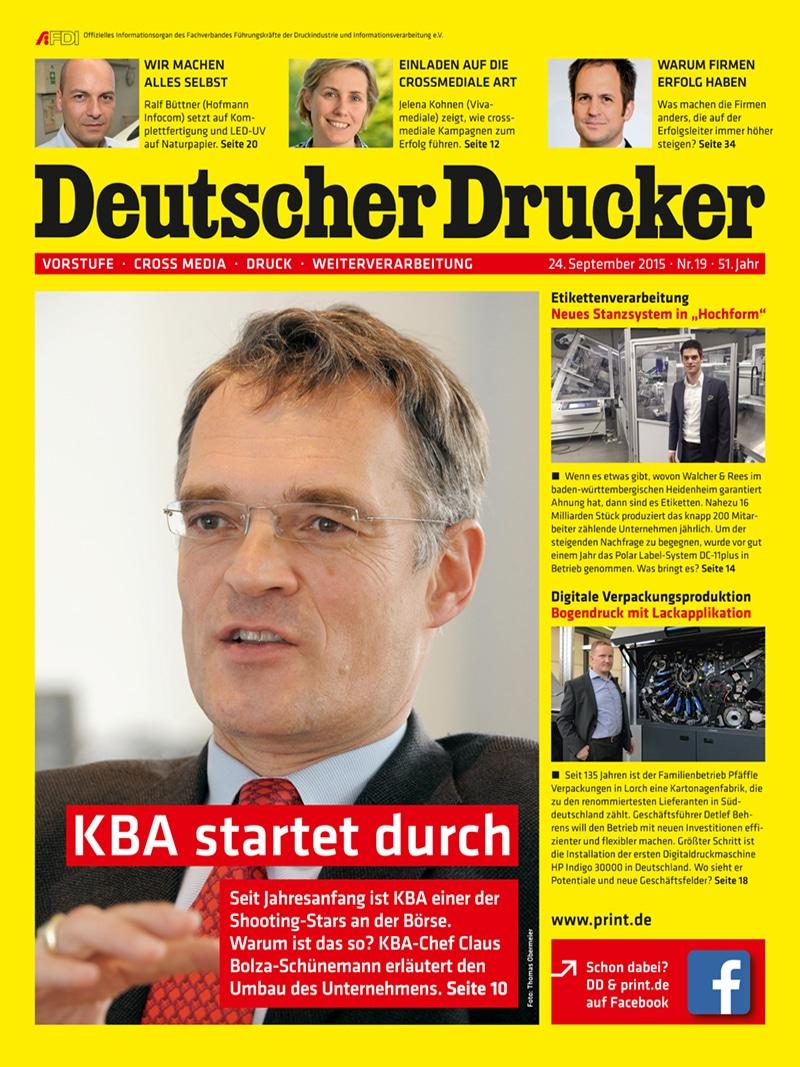 Produkt: Deutscher Drucker 19/2015 Digital
