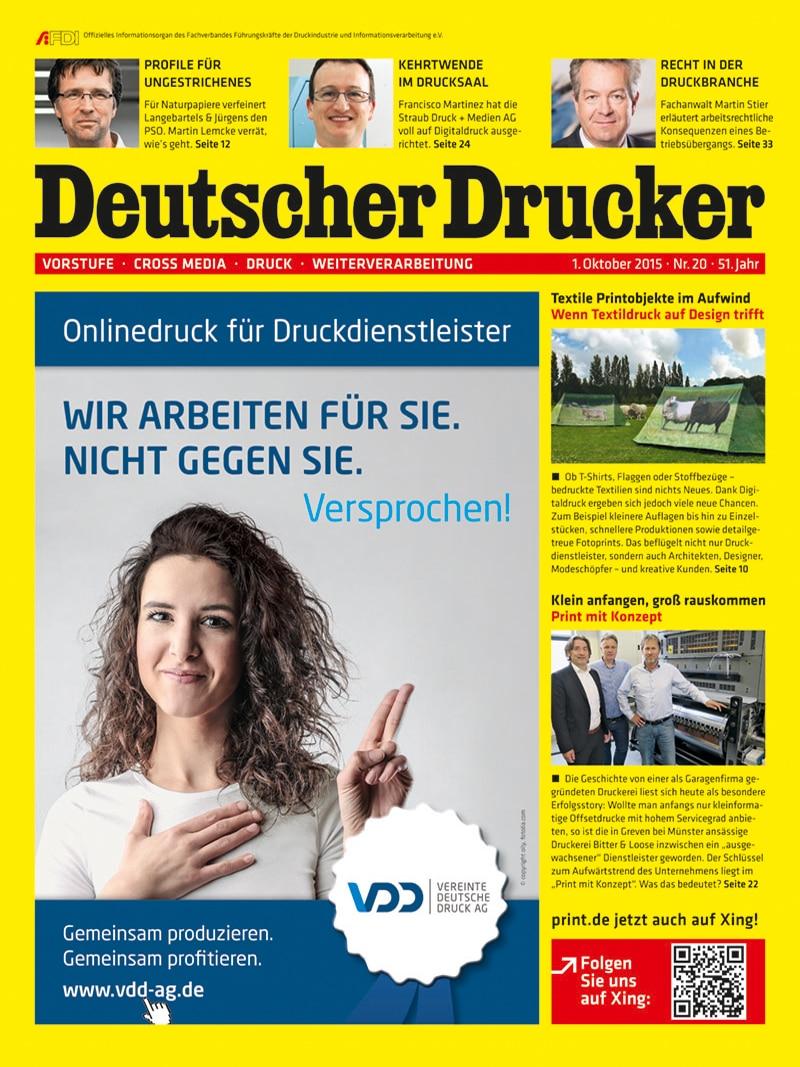 Produkt: Deutscher Drucker 20/2015 Digital