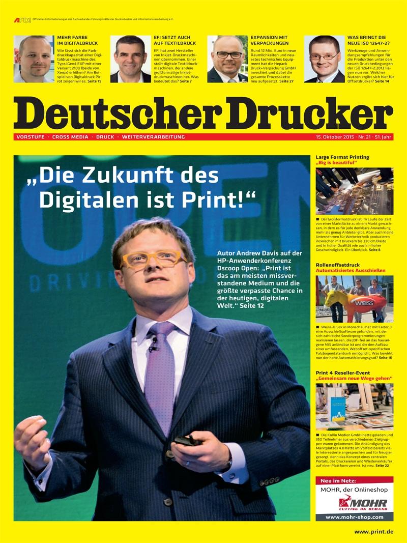 Produkt: Deutscher Drucker 21/2015 Digital