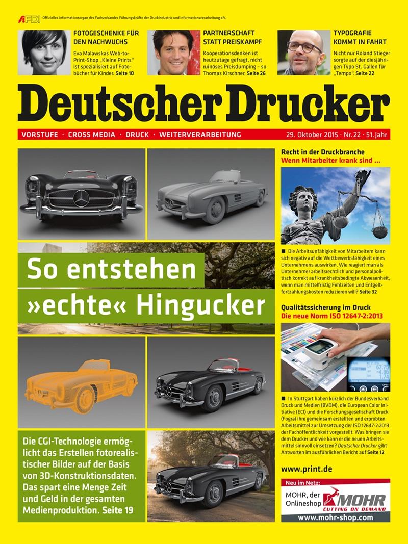 Produkt: Deutscher Drucker 22/2015 Digital