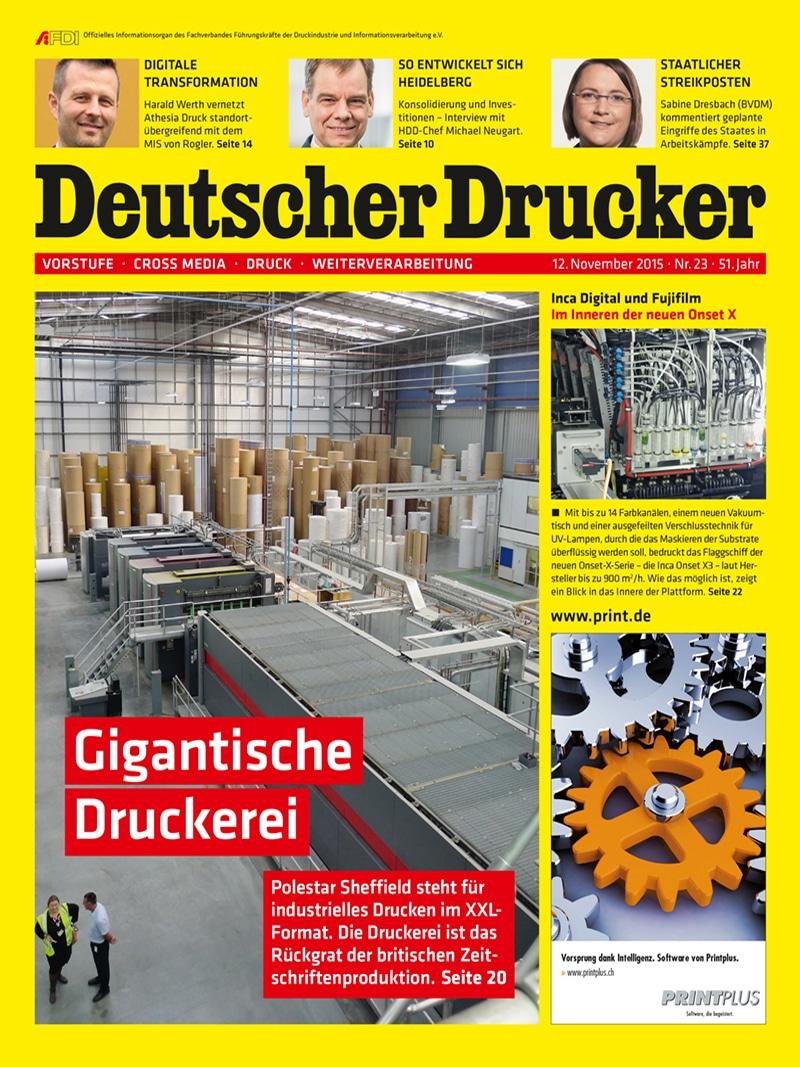 Produkt: Deutscher Drucker 23/2015 Digital