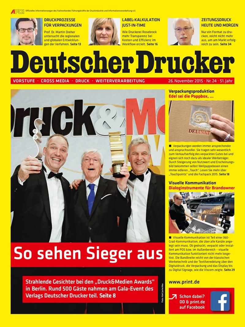 Produkt: Deutscher Drucker 24/2015 Digital