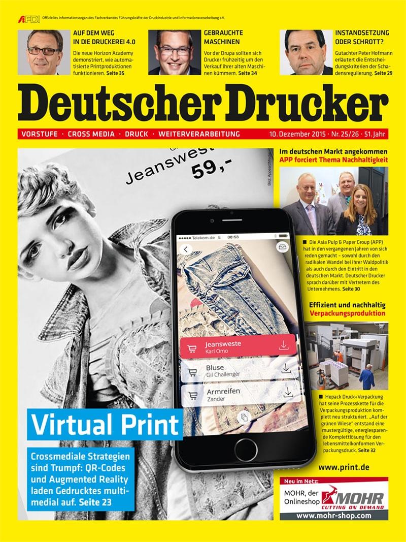 Produkt: Deutscher Drucker Digital 25-26/2015