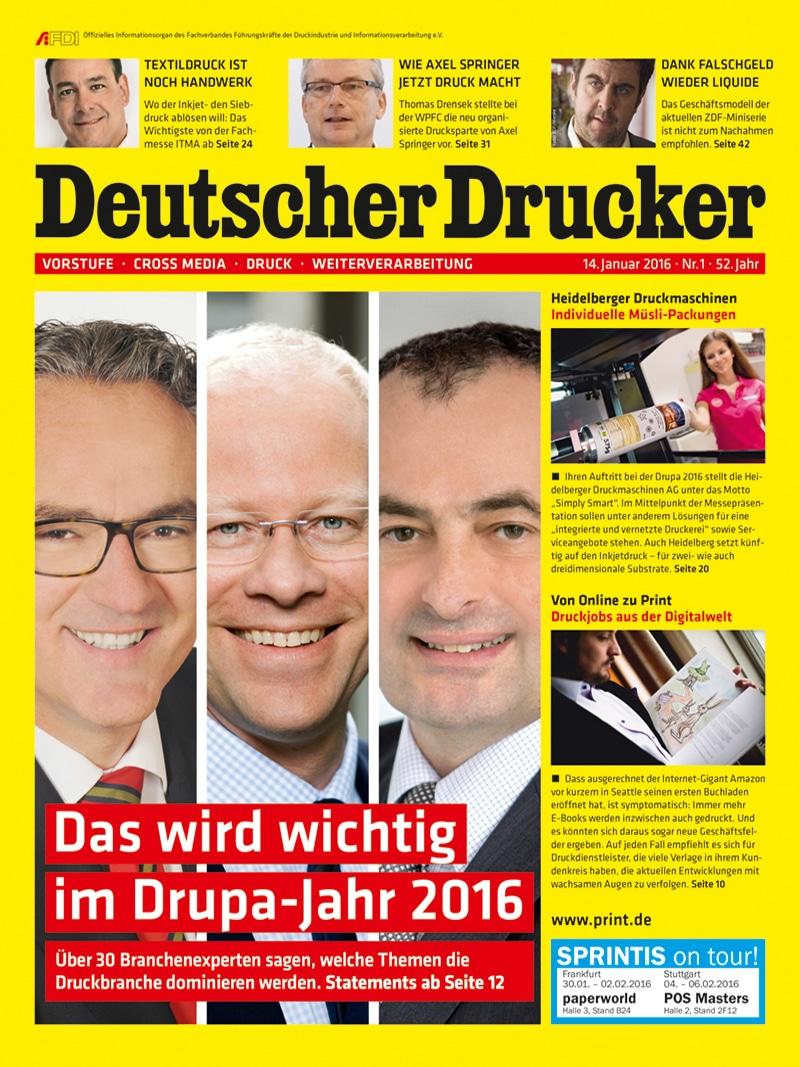 Produkt: Deutscher Drucker 1/2016 Digital