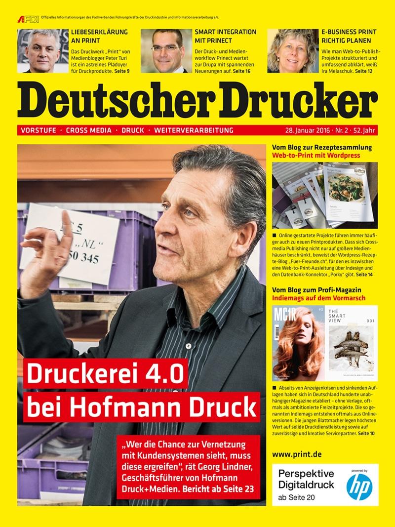 Produkt: Deutscher Drucker 2/2016 Digital