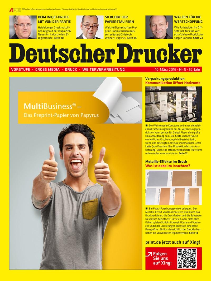 Produkt: Deutscher Drucker 5/2016 Digital