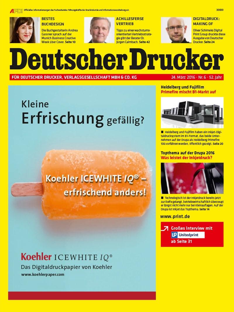 Produkt: Deutscher Drucker 6/2016 Digital