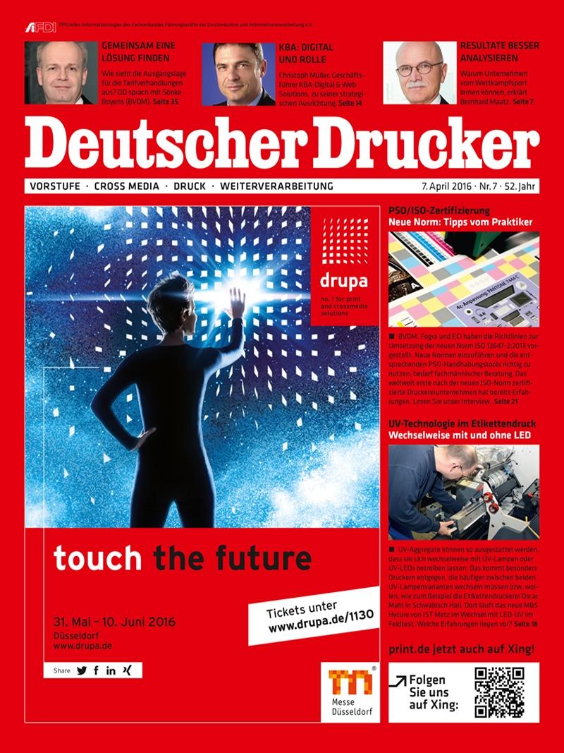 Produkt: Deutscher Drucker 7/2016 Digital