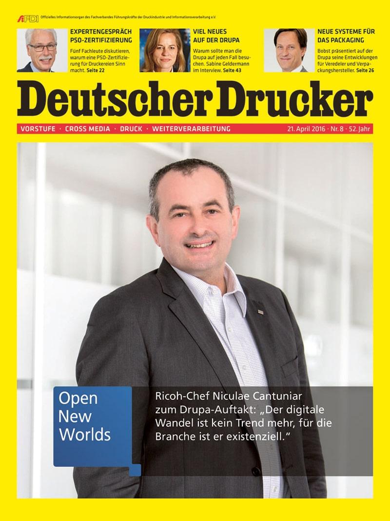 Produkt: Deutscher Drucker 8/2016 Digital