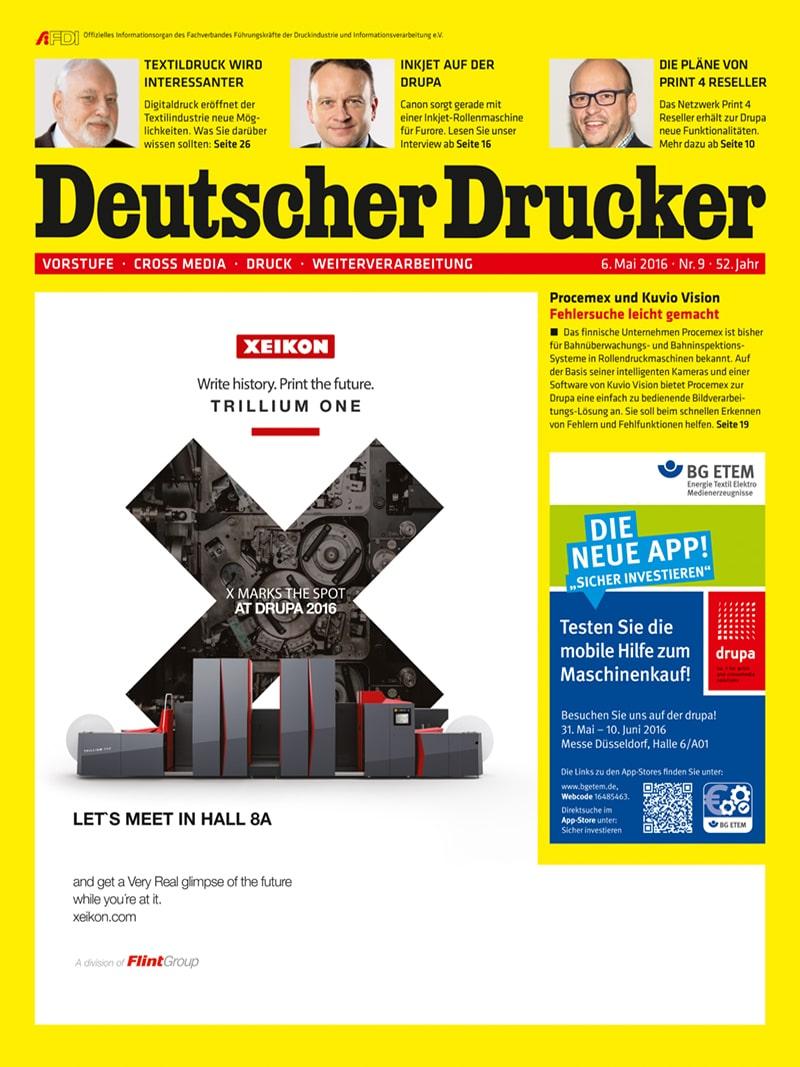 Produkt: Deutscher Drucker 9/2016 Digital