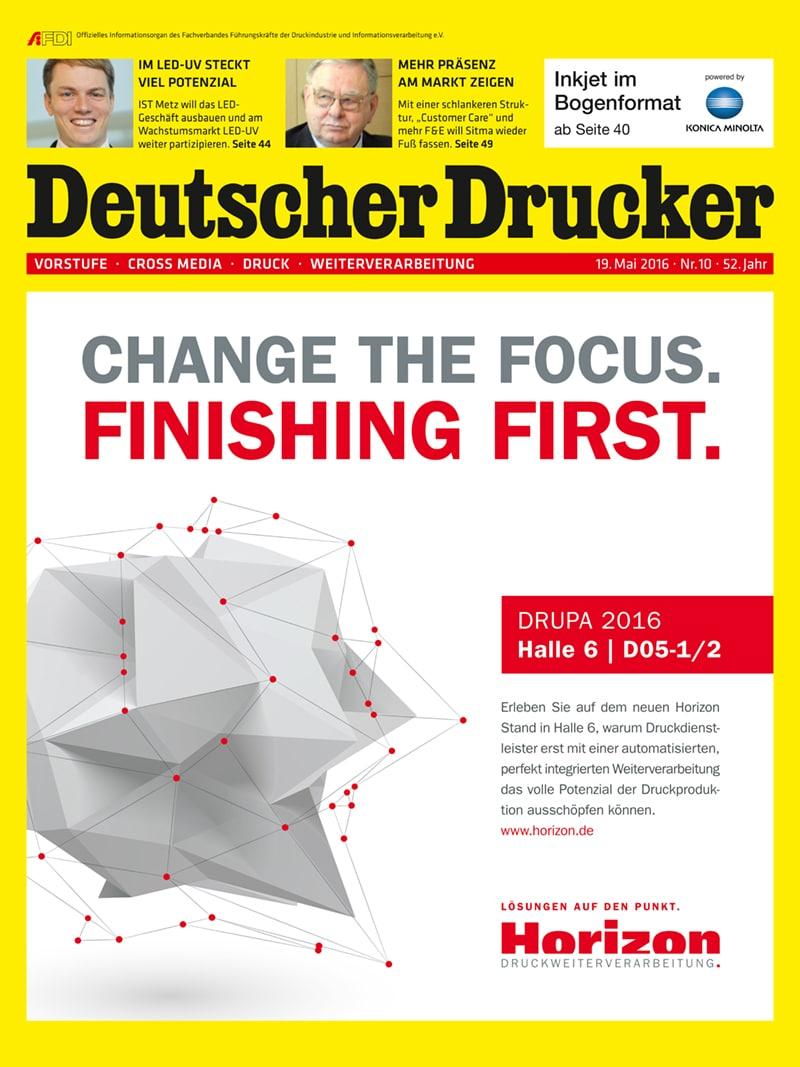 Produkt: Deutscher Drucker 10/2016 Digital
