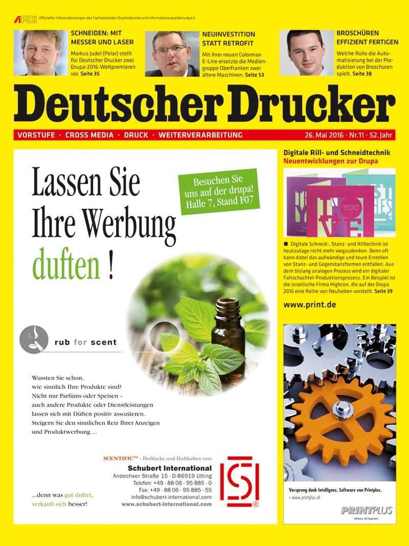 Produkt: Deutscher Drucker 11/2016 Digital