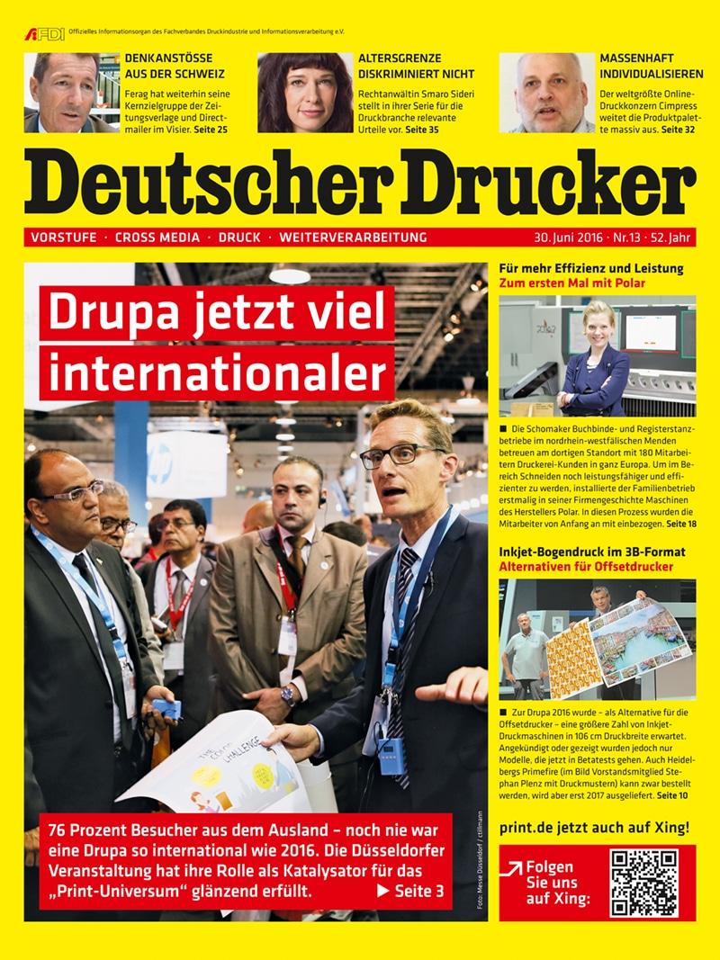 Produkt: Deutscher Drucker Digital 13/2016