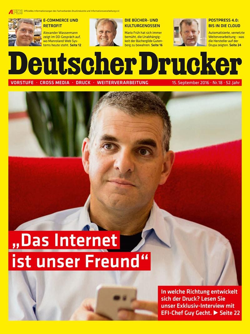 Produkt: Deutscher Drucker 18/2016 Digital