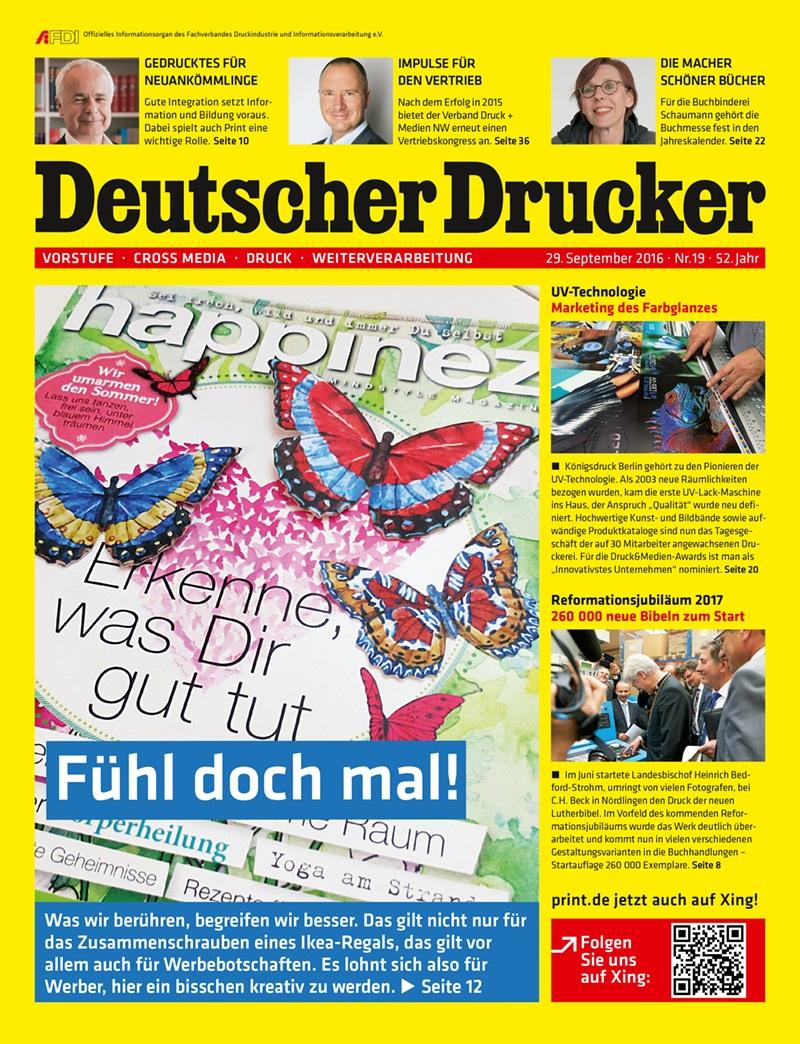 Produkt: Deutscher Drucker 19/2016 Digital