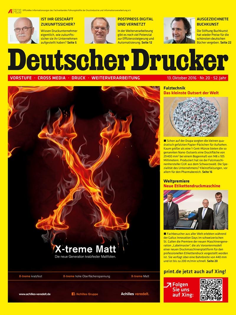 Produkt: Deutscher Drucker 20/2016 Digital