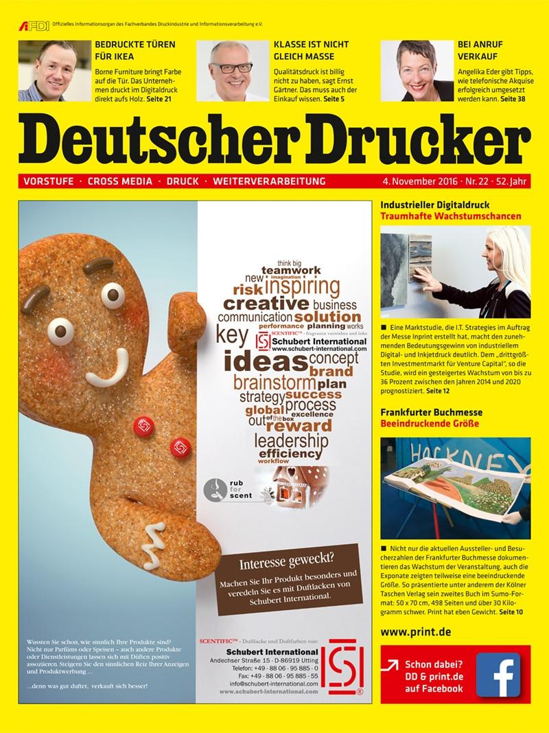 Produkt: Deutscher Drucker 22/2016 Digital