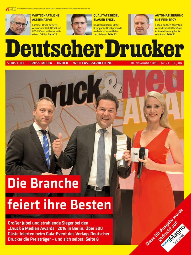 Produkt: Deutscher Drucker 23/2016 Digital