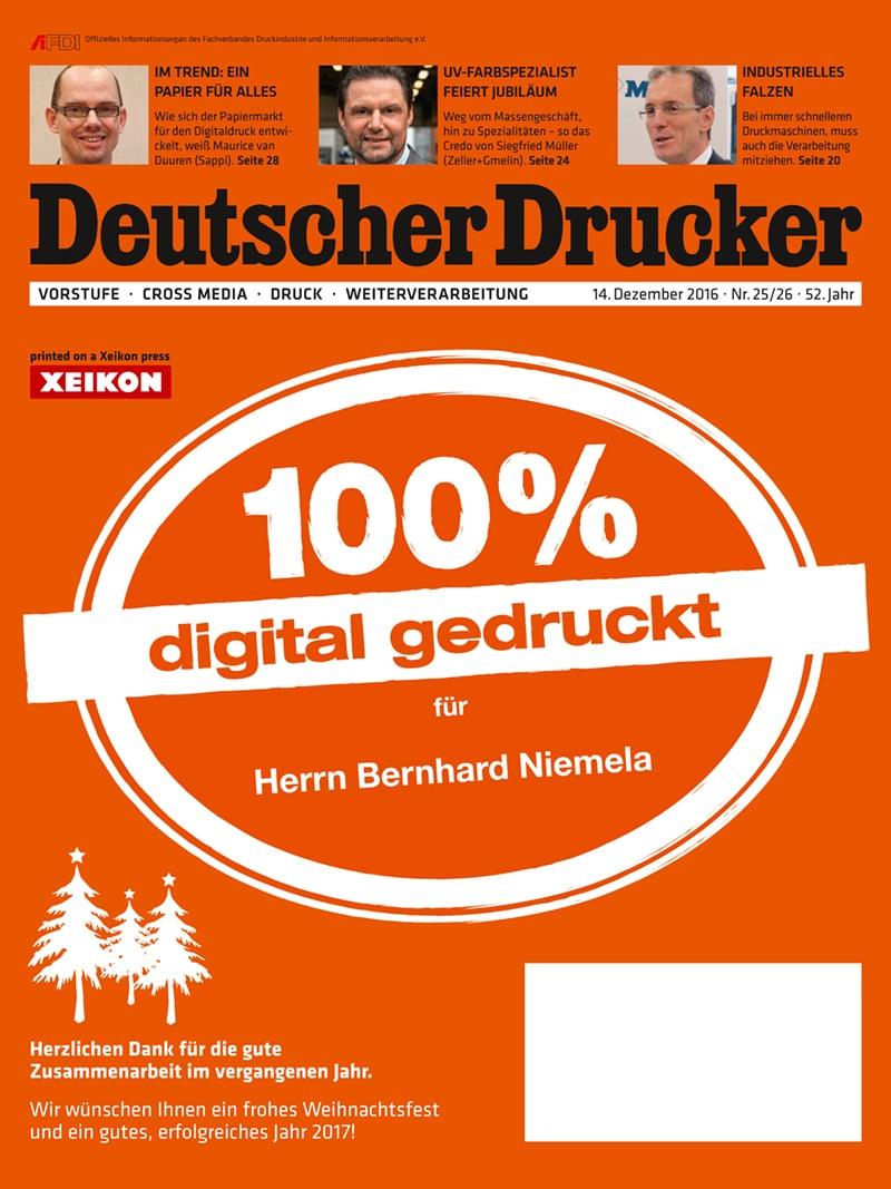 Produkt: Deutscher Drucker 25-26/2016 Digital