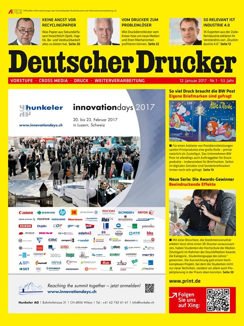 Produkt: Deutscher Drucker 1/2017 Digital