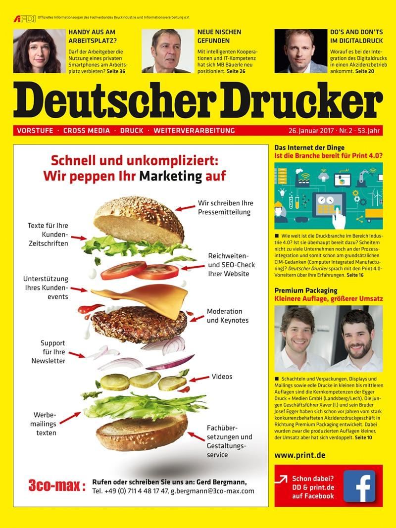 Produkt: Deutscher Drucker 2/2017 Digital