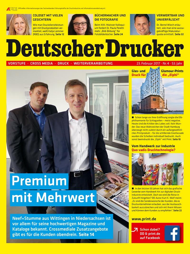 Produkt: Deutscher Drucker 4/2017 Digital