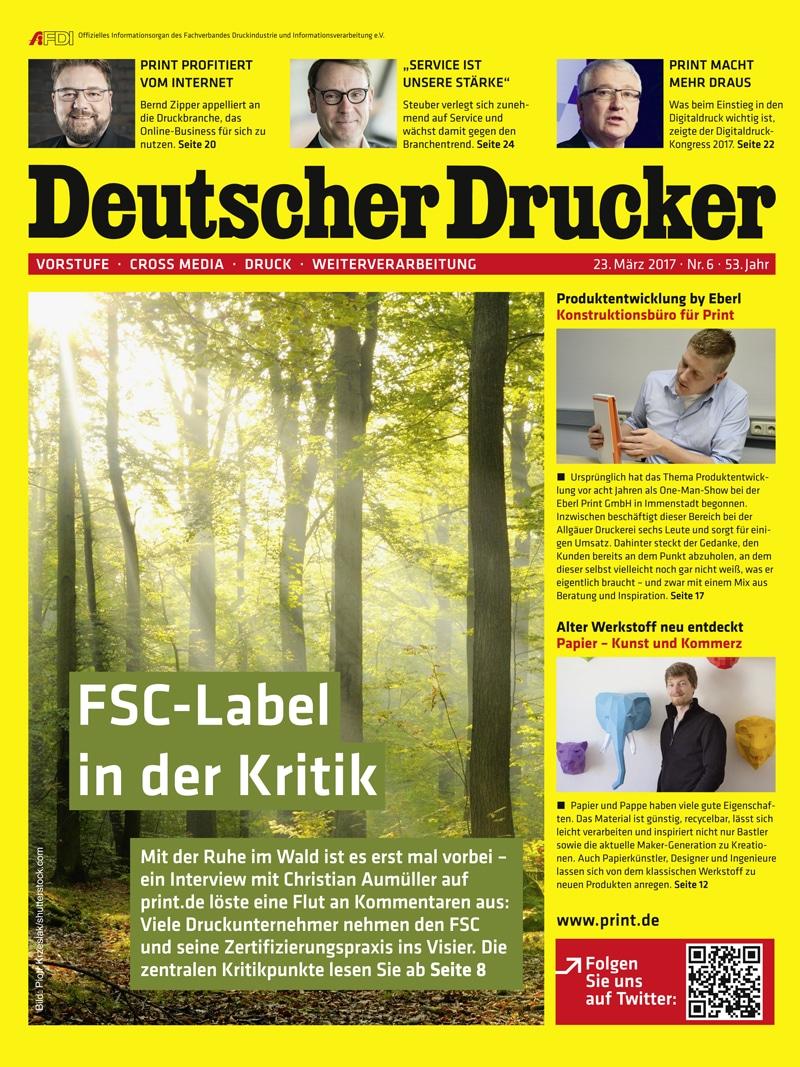 Produkt: Deutscher Drucker 6/2017 Digital