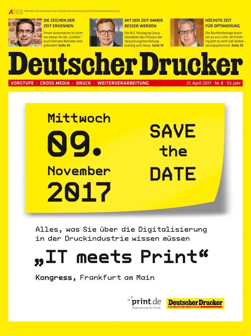 Produkt: Deutscher Drucker 8/2017 Digital