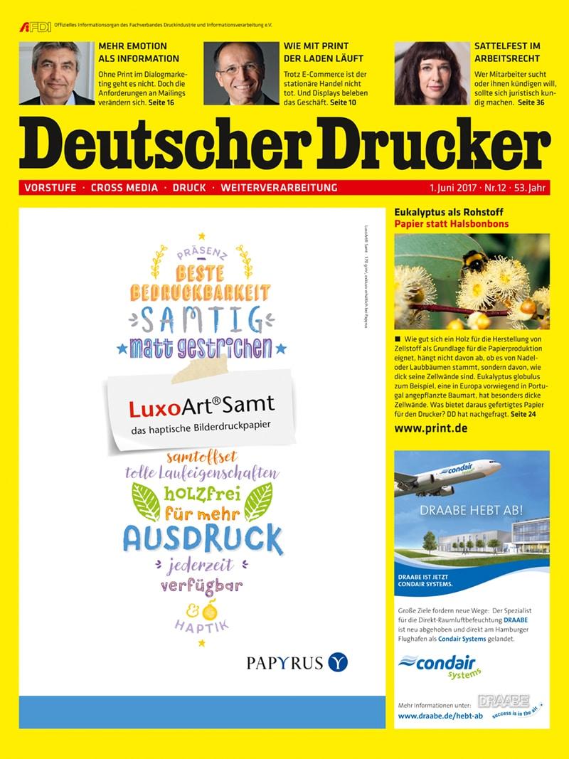 Produkt: Deutscher Drucker 12/2017 Digital