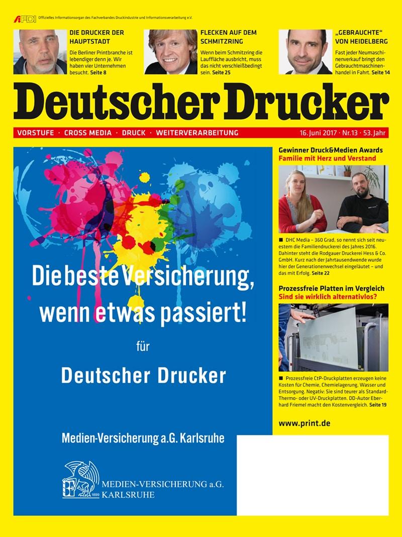 Produkt: Deutscher Drucker 13/2017 Digital