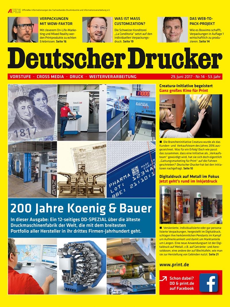 Produkt: Deutscher Drucker 14/2017 Digital
