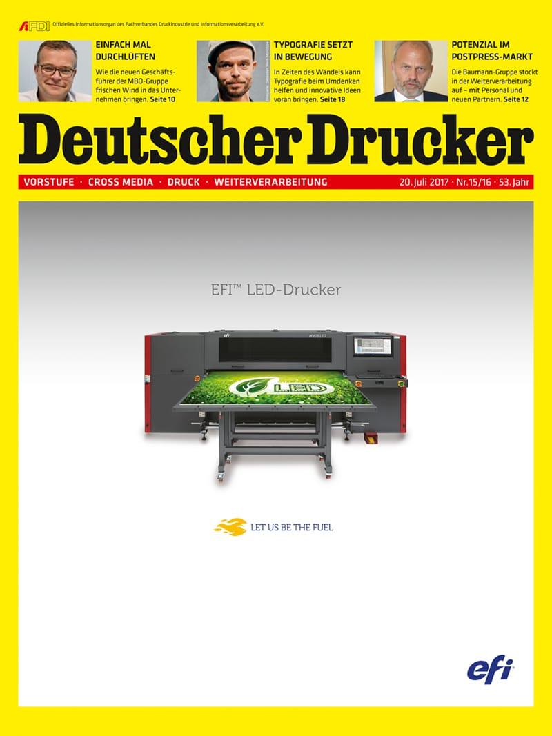 Produkt: Deutscher Drucker 15-16/2017 Digital