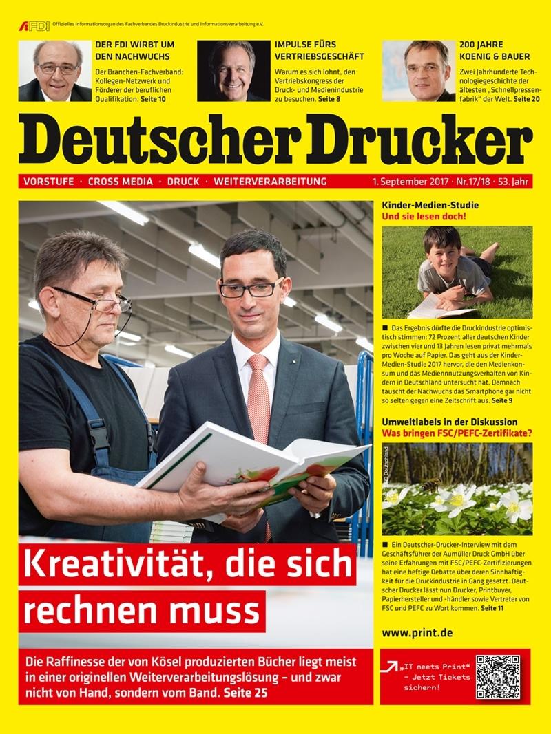 Produkt: Deutscher Drucker 17-18/2017 Digital
