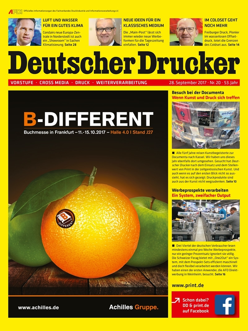 Produkt: Deutscher Drucker 20/2017 Digital