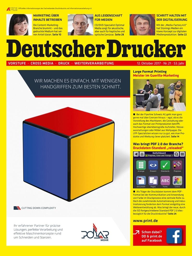 Produkt: Deutscher Drucker 21/2017 Digital