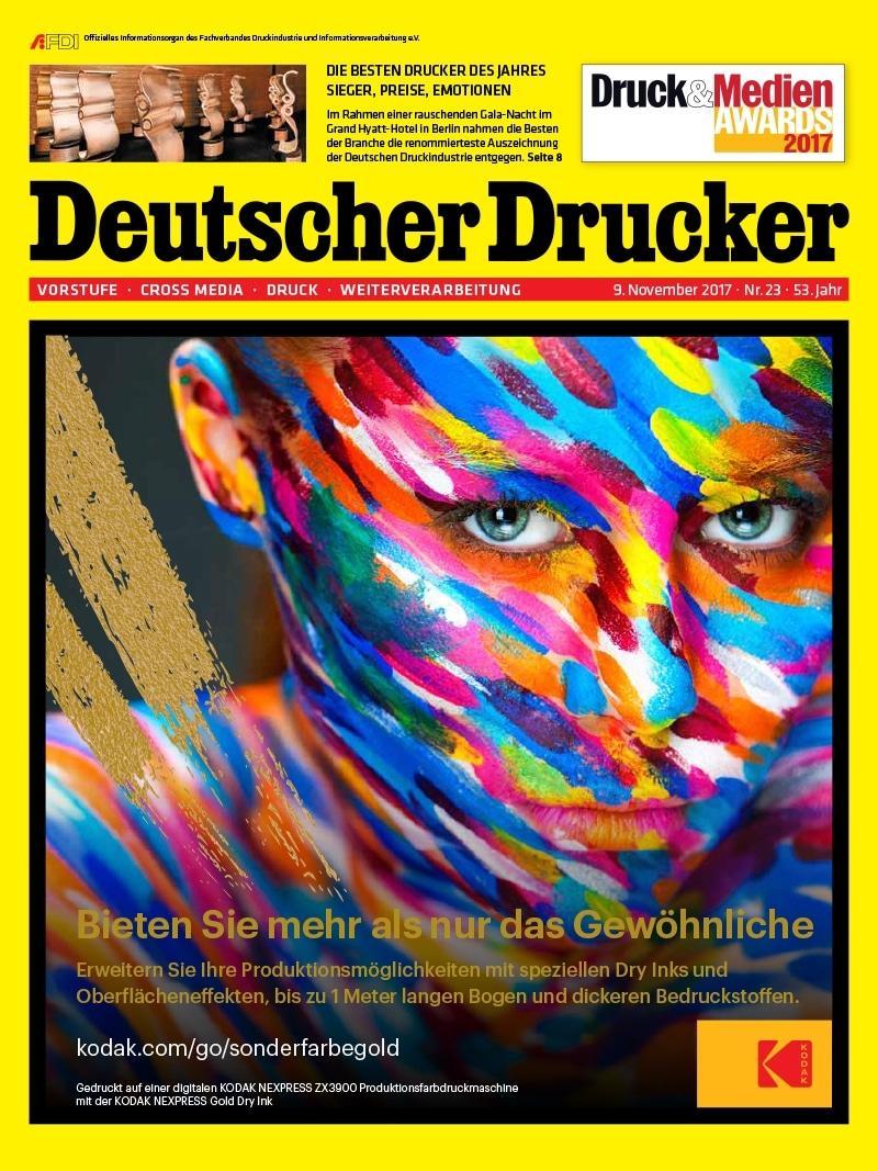 Produkt: Deutscher Drucker 23/2017 Digital
