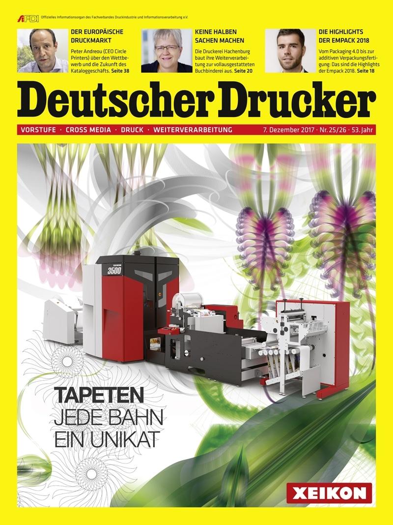 Produkt: Deutscher Drucker 25-26/2017 Digital