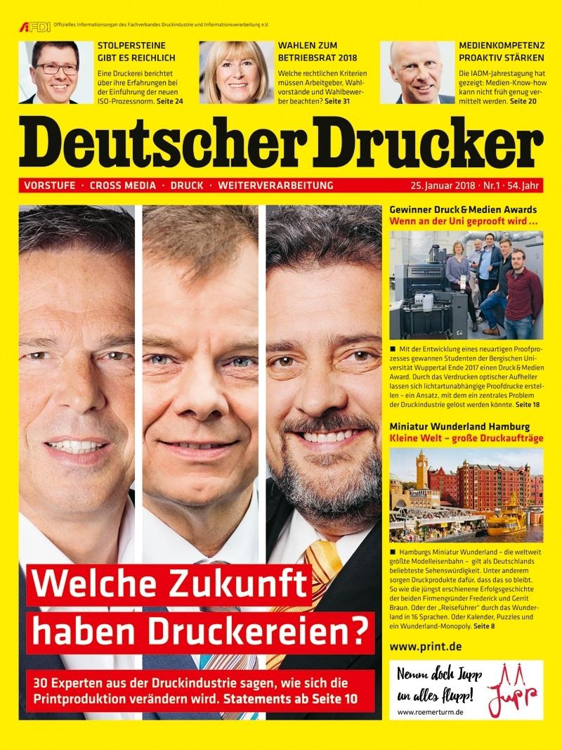 Produkt: Deutscher Drucker 1/2018 Digital