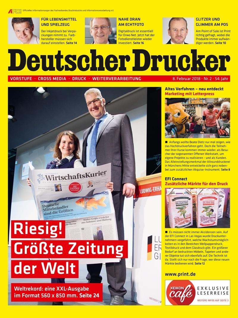 Produkt: Deutscher Drucker 2/2018 Digital