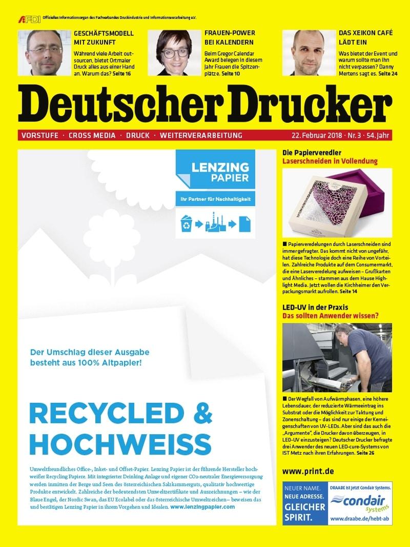 Produkt: Deutscher Drucker 3/2018 Digital
