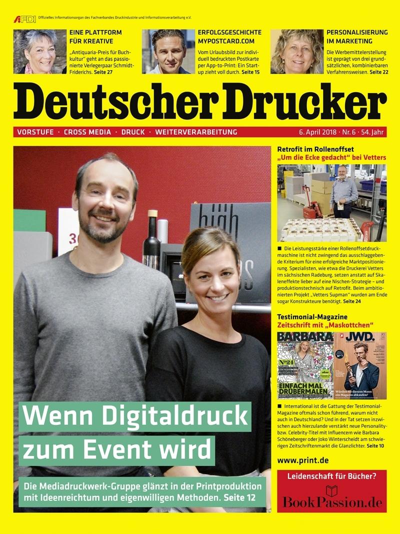 Produkt: Deutscher Drucker 6/2018 Digital