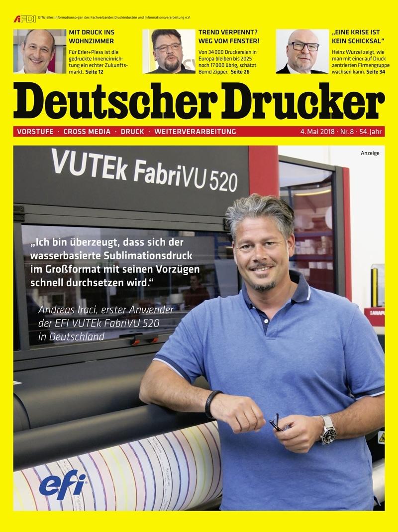 Produkt: Deutscher Drucker 8/2018 Digital