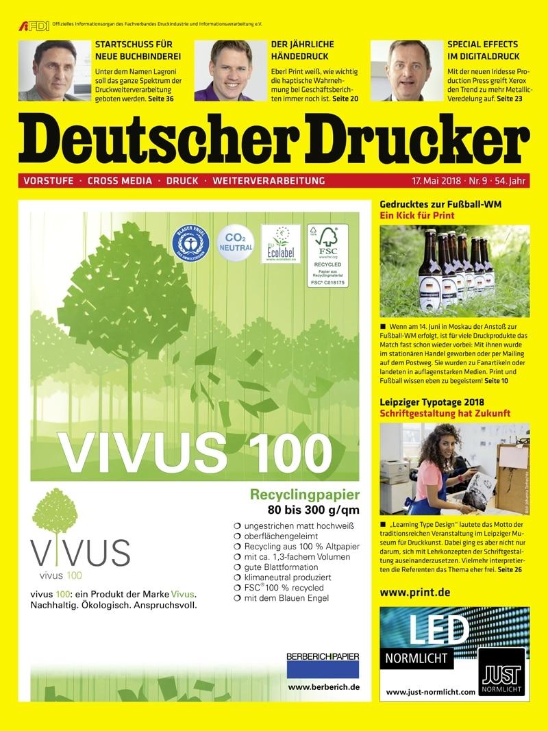 Produkt: Deutscher Drucker 9/2018 Digital