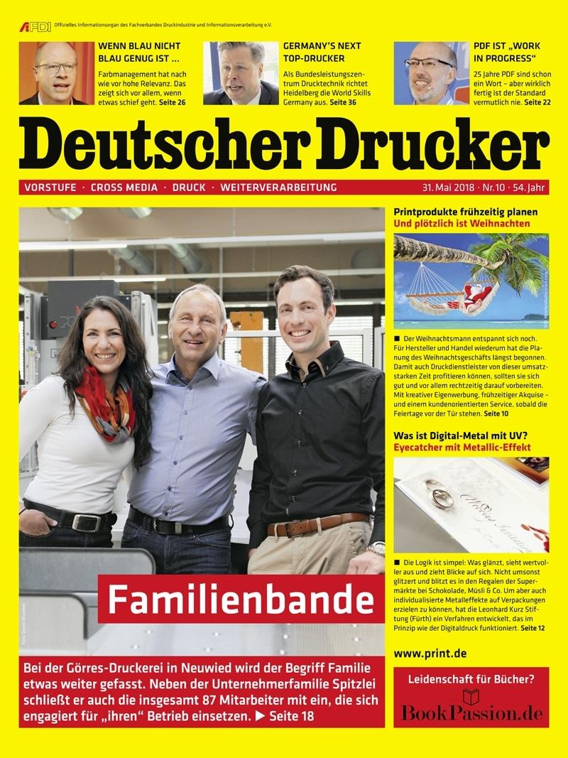 Produkt: Deutscher Drucker 10/2018 Digital