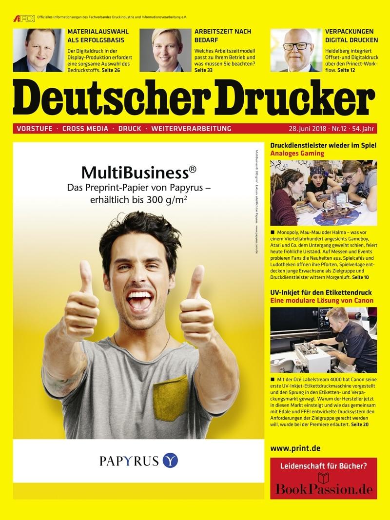 Produkt: Deutscher Drucker 12/2018 Digital