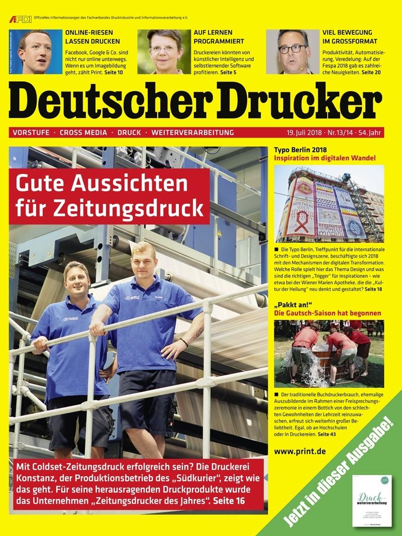 Produkt: Deutscher Drucker 13-14/2018 Digital